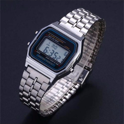 Digital Men Watches Women Retro LED Metal Shock Sports Fashion Wristwatches Relogio Masculino Gold Silver Watch Saati Drop Ship