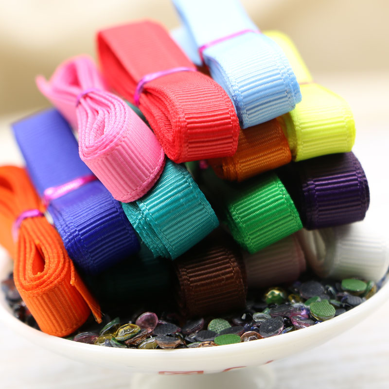 1CM Mixed 12 Plain Colors Rib Belt Ribbon Set For DIY Handmade Jewelry Accessories Decoration