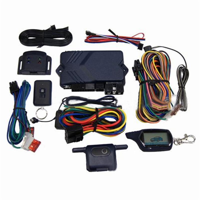 Two-way Car Burglar Alarm RC Anti-theft System of Russian version  Two Way Car Alarm System For Twage B9 hzsecurity electromagnetic system em library anti theft system one aisle