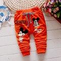Pantalones casuales bebé 100% algodón de alta calidad 1 unidades bebé Harén pantalones de la Historieta de Mickey del bebé/de las muchachas pantalones de Los Niños de la Marca de ropa