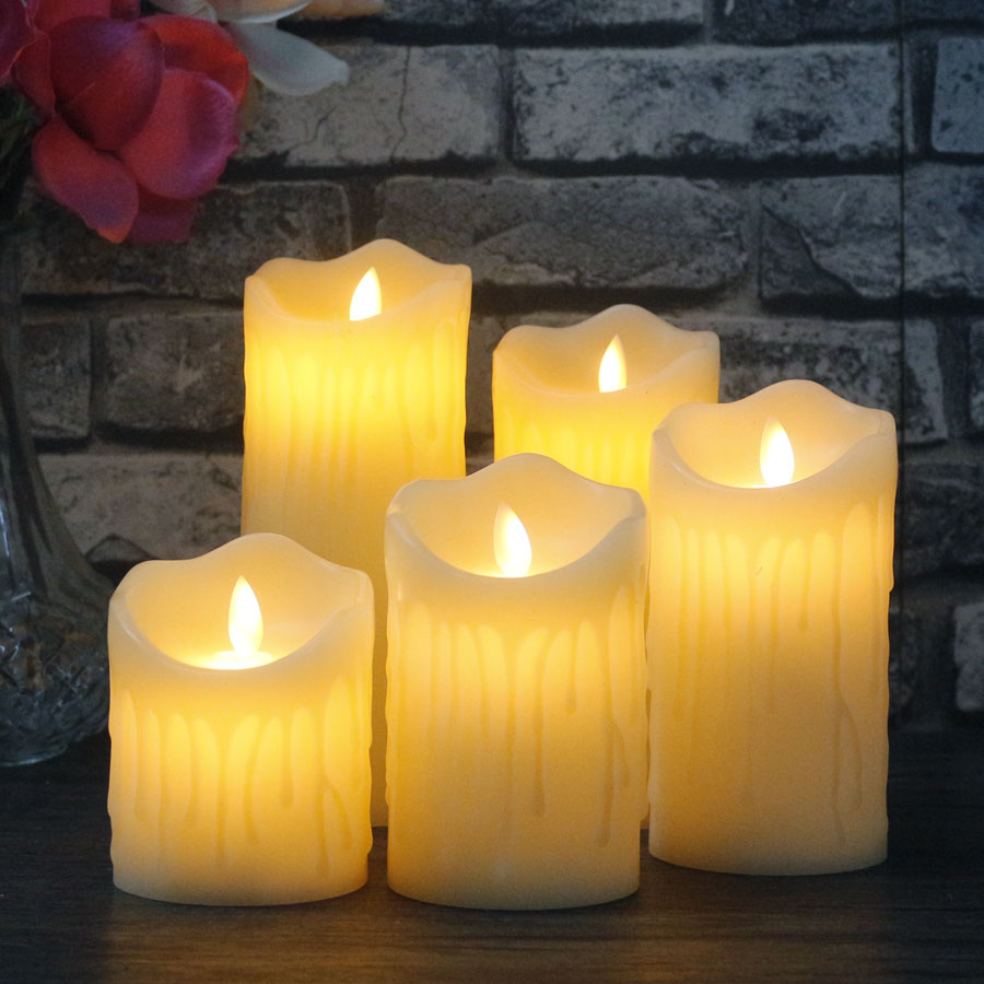 1PC Remote Control LED elettronico Flameless Candle Lights Simulazione Fiamma Lampeggiante LED Candele San Valentino Decorazione del partito