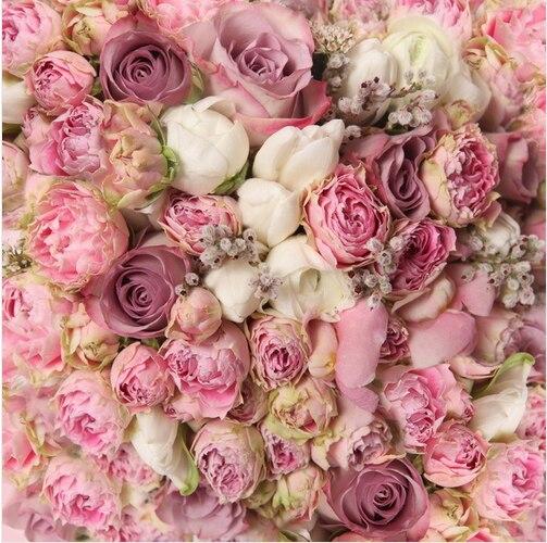 8x8FT Licht Rosa Weiße Blumen Blumen Bouquet Neugeborenen Kinder ...