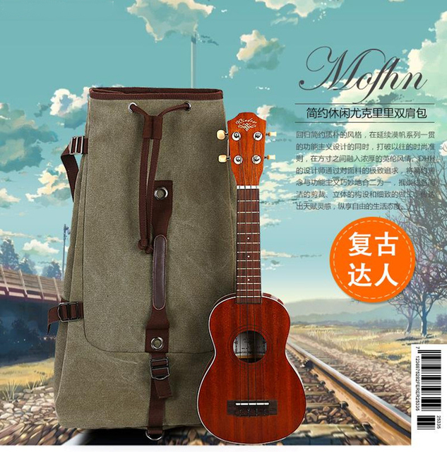 New luxury universal 21 23 soprano concert ukulele bag backpack durable canvas causal soft case portbale cover lanika