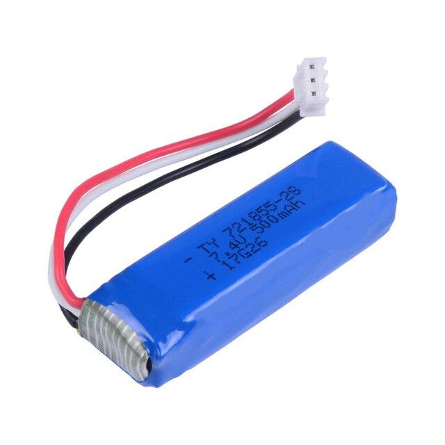 Wltoys 20402 20404 20409 1/20 RC Voiture pièces De Rechange 20402-0658 7.4 V 500 mah batterie 2 pièces