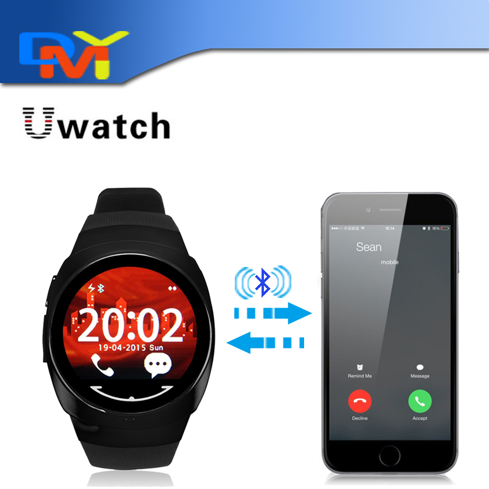 Original Uwatch Uo font b Smartwatch b font For Iphone 5 6 6S Waterproof Fitness Running
