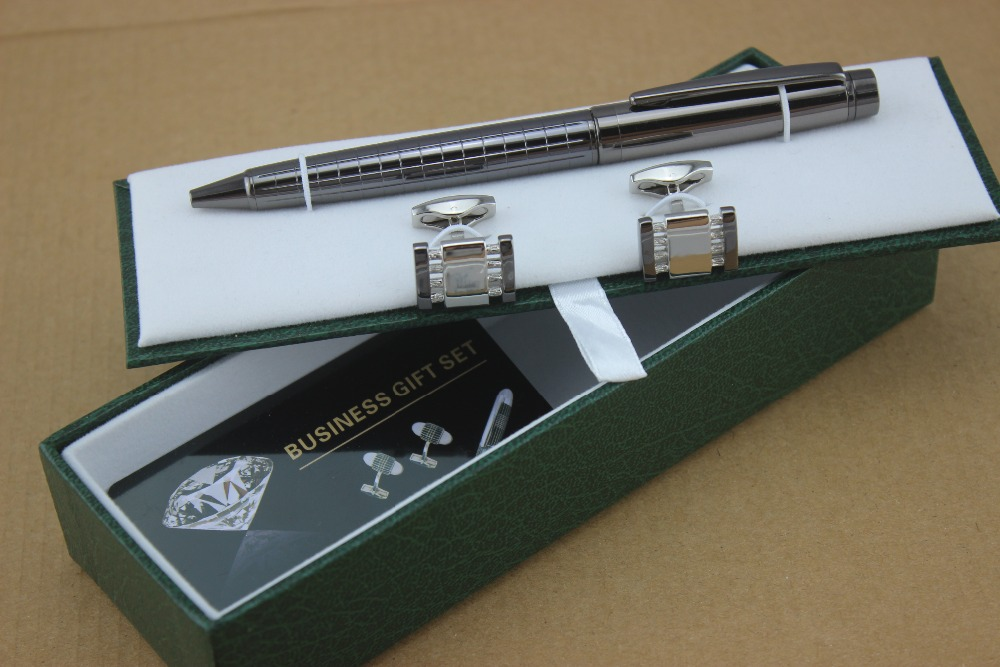 Hot Sale Classic Black Ballpoint Pens Stationery Executive Office Supplies  And Cufflinks