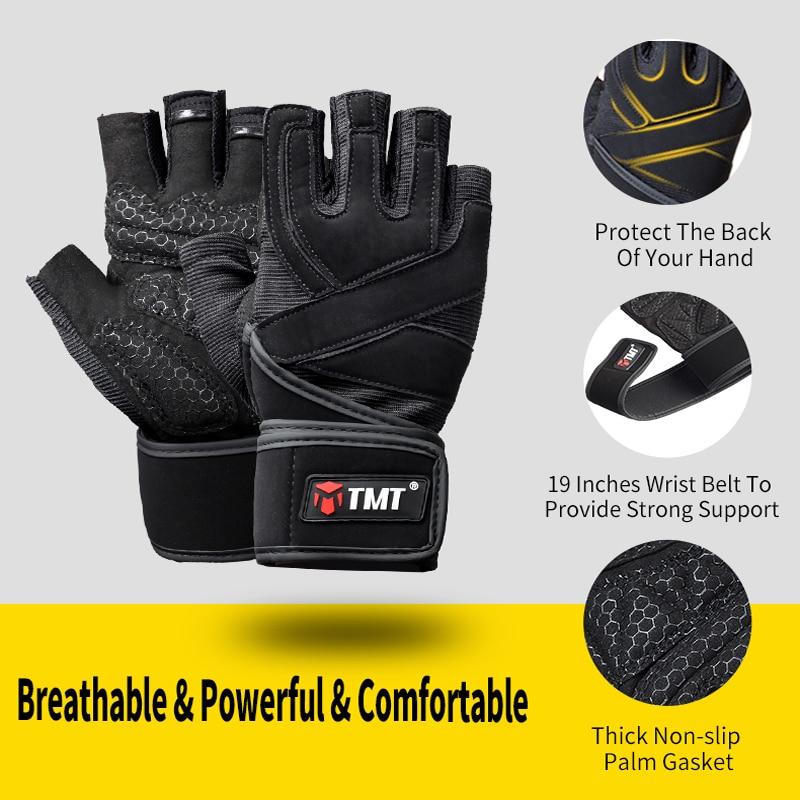 TMT Half Finger Rutschfeste Atmungsaktive Stoßfeste Hantel - Fitness und Bodybuilding - Foto 3