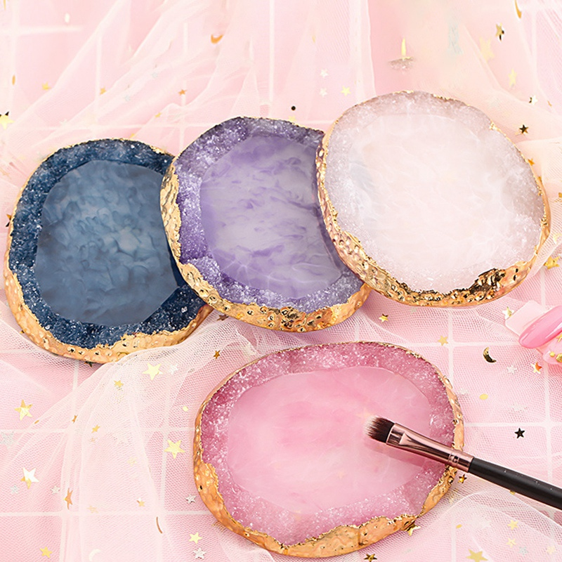 Nail Special Color Palette Nail Sticker Display Board Resin Agate Sheet Painting Board Nail Piece Display Gel Manicure Tray in Rhinestones Decorations from Beauty Health