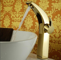 European heightening full copper gold Finished faucet bathroom hot and cold basin tap water basin sinks the sink