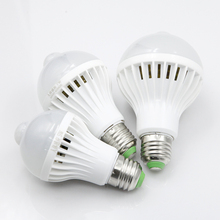 LED Bulb with Motion and Sound Sensor