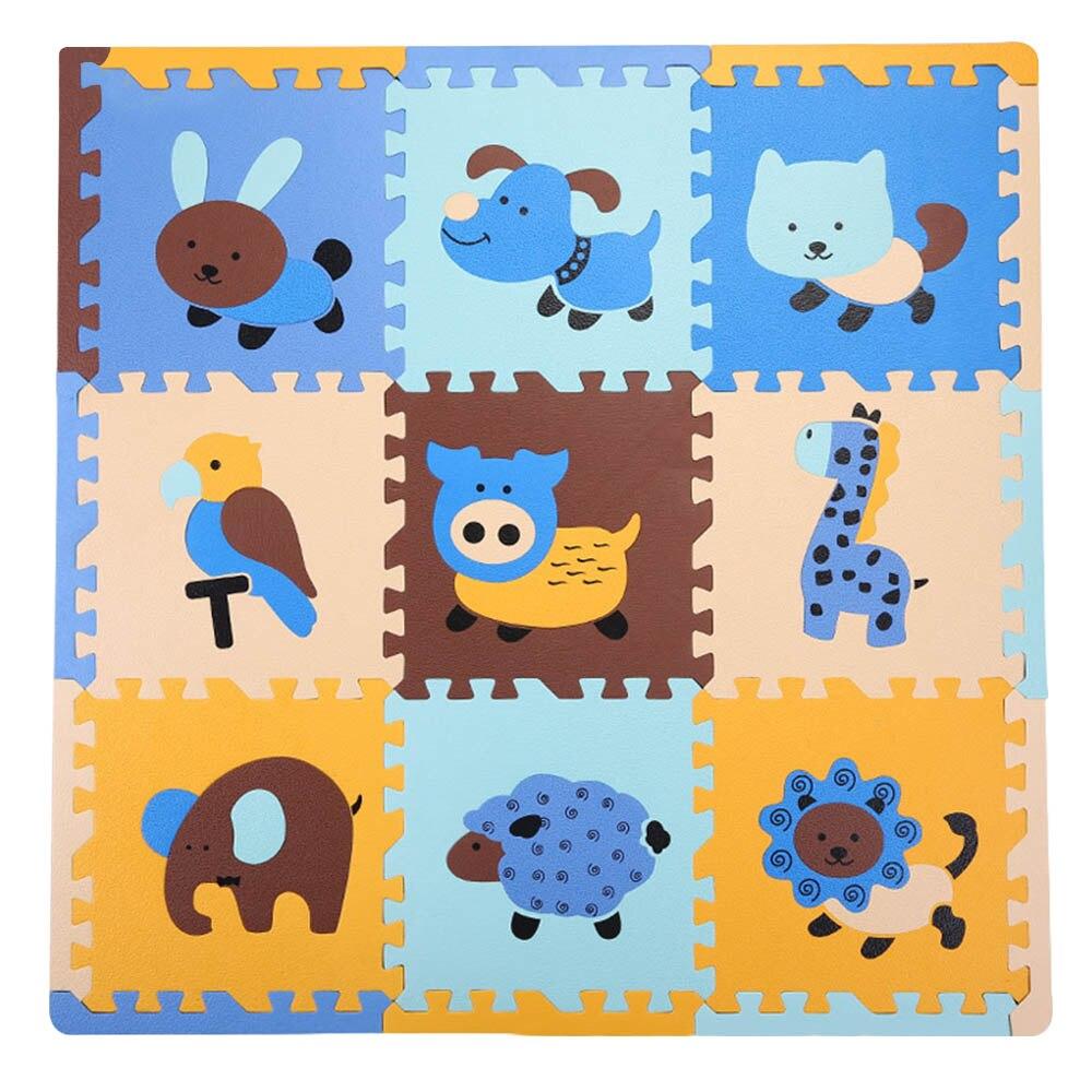 Animal de bande dessinée Puzzle Tapis Enfants Tapis de Jeu Bébé Gym Activité Tapis Enfant Tapis Rampant Couverture En Développement de Tapis Enfants Room Decor
