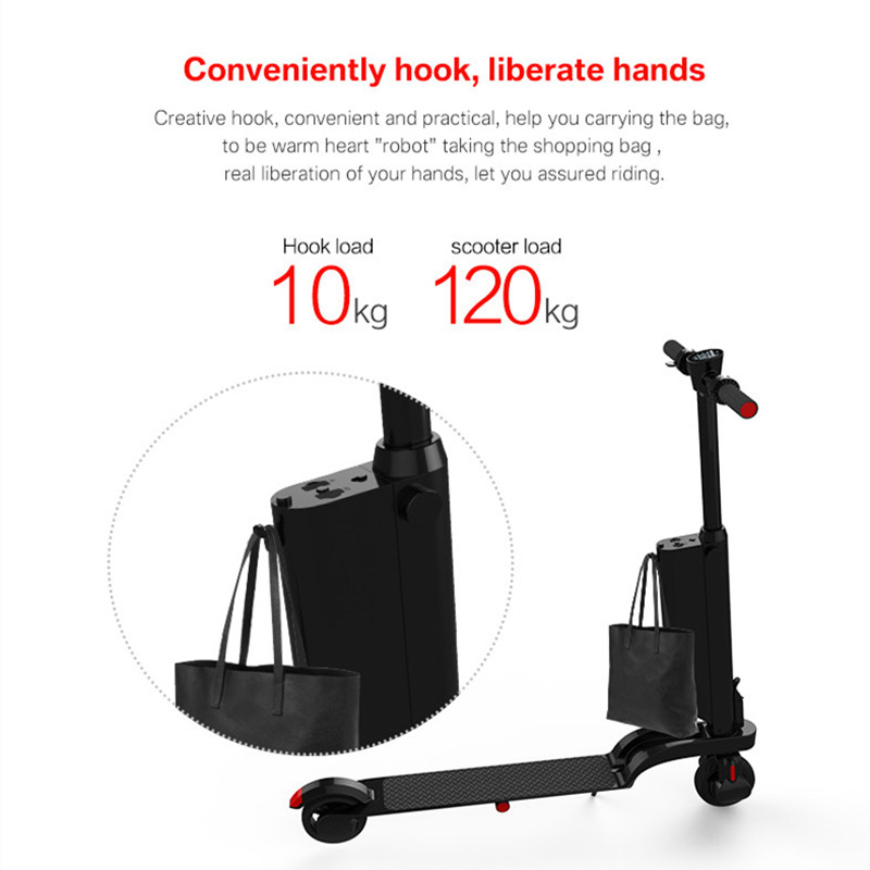 foldable mini backpack portable 250w electric scooter e-scooter with detachable battery