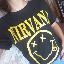 Nirvana T Shirt Men Women Summer Quality CottonTops Tees Nirvana Print T-shirt Men Loose O Neck Shor