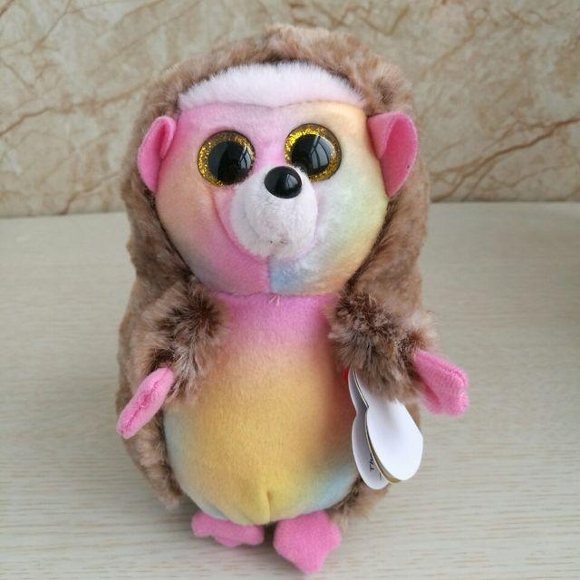 af4bbd0ce86 TY BEANIES 15CM 6inch pinecone hedgehog IDA hedgehog Big Eyes Plush Toys Stuffed  animals children toy