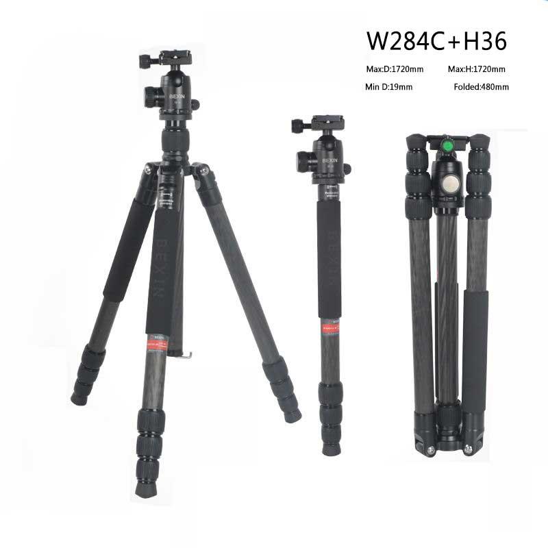 Carbon Fiber Professional Travel Camera Tripod Detachable as Monopod For Canon Nikon Sony DSLR Camera Portable camera stand цена