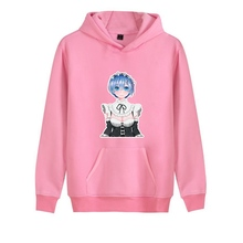 RE: ZERO Ram Pink Cute Cartoon Printed Fashion Casual Harajuku Hoodie Pink/White/Grey Women's Hoodie A193121 стоимость