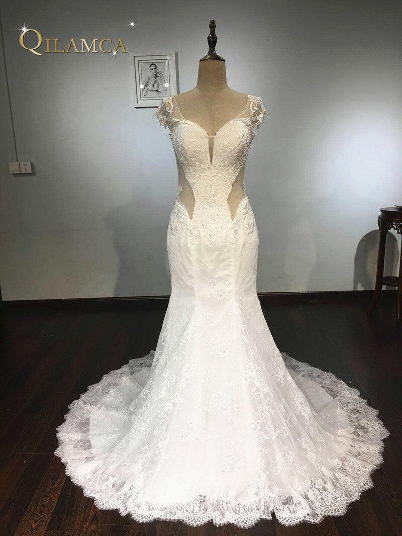 Robes De mariée Vintage Sexy sirène robes De mariée 2018 Boho dentelle Robe De mariée Robe De Mariee 2018
