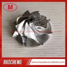 TD04 50,00/67,00 мм 8+ 0 лезвия точечное фрезерование высокая производительность Турбокомпрессор заготовка/Фрезерование/алюминий 2618 компрессорное колесо