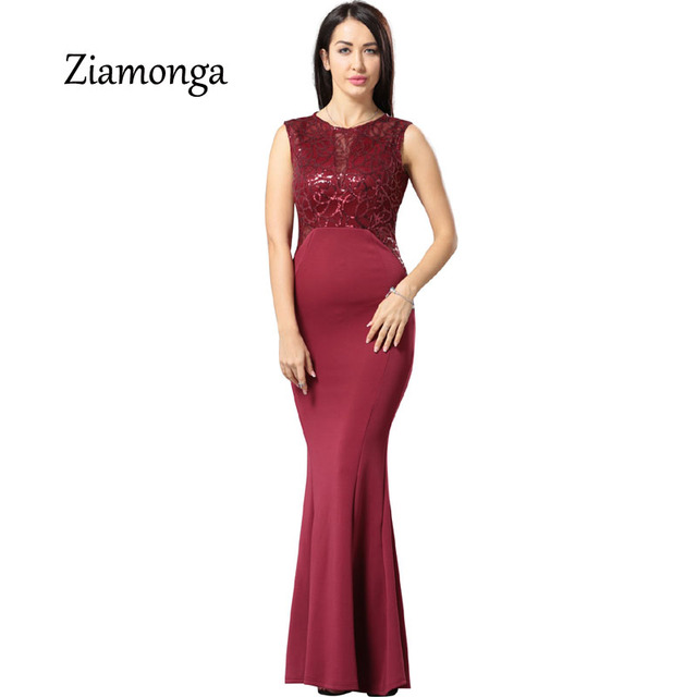 47980eda1ae4a Ziamonga Women Elegant Sequined Formal Evening Party Mother Of Bride  Special Occasion Dress Women Sexy Bodycon
