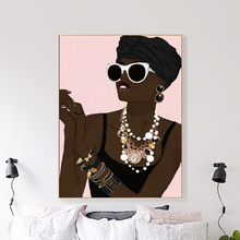 Africa Model Fashion Girl Paris Perfume Wall Art Canvas Painting Nordic Posters And Prints Pictures For Living Room Decor