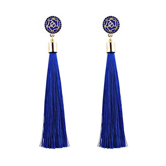 Купить женские богемные серьги с подвесками длинные подвеской в виде