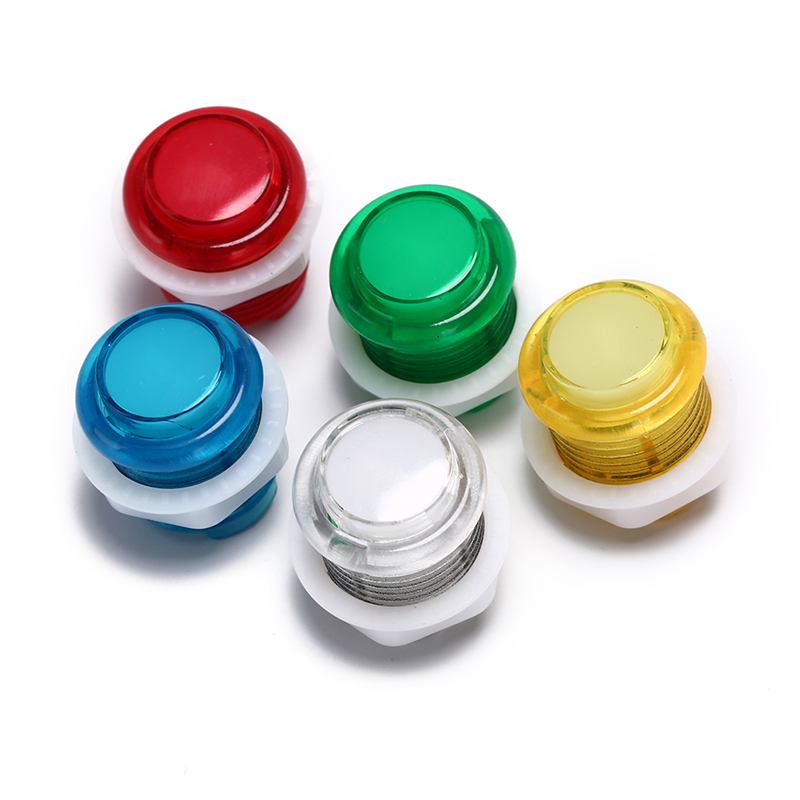 1x 24mm led illuminated 5v push buttons built-in switch for arcade joyst NIUS