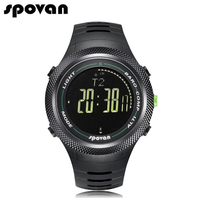 Spovan reloj militar de los hombres relojes de pulsera 50 m resistente al agua con luz de fondo led/brújula/3d podómetro/calorías conde leader2