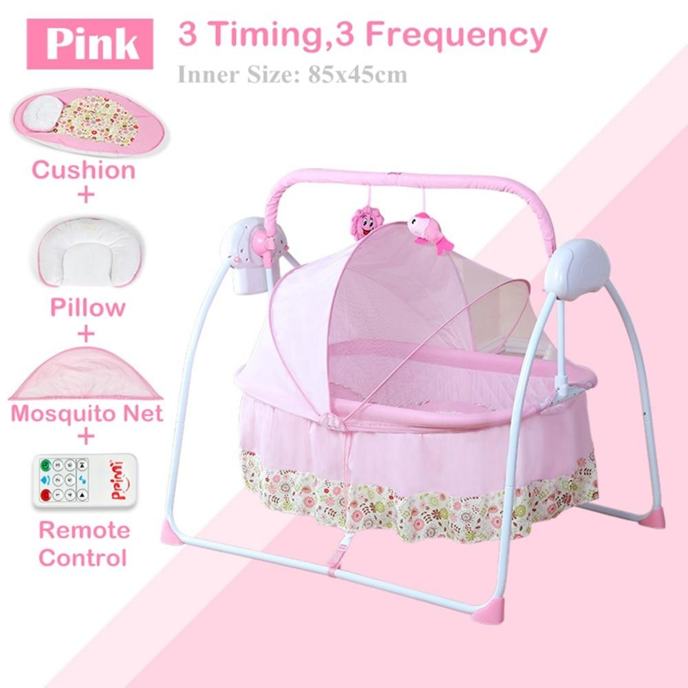 Berceau de bébé électrique grand espace berceau bébé/bascule pour bébé, 3 fois, 3 fréquences, nouveau-né lit balançoire bébé intelligent, panier de couchage