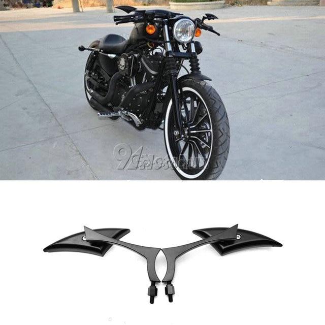 2x להב אוניברסלי אופנוע מראות אחוריות להארלי Dyna Sportster Softail סיור רחוב Glide XL 1200 883 אלקטרה Glide