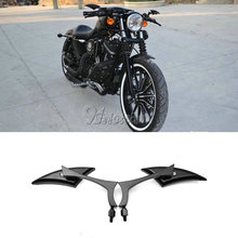 2x Universal Blade กระจกมองหลังสำหรับรถจักรยานยนต์ Harley Dyna Sportster Softail Touring Street Glide XL 1200 883 Electra Glide