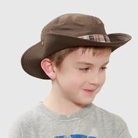 Kenmont Summer Spring KIds Boys Outdoor Wide Brim Fishermen Bucket Hat Foldable Hiking Cowboy Sun Protection