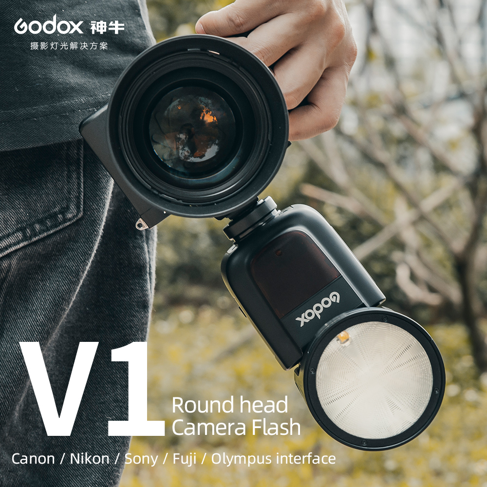 Godox V1O Camera Flash Speedlite Round Head with Godox X2T-O TTL Wireless Flash Trigger 1//8000s HSS for Olympus Cameras for Wedding Portrait Studio Photography