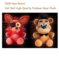 Hot Sell Five Nights At Freddy's 4 FNAF Foxy Fox Freddy Fazbear Bear 25cm Doll Plush Toys 10Baby Gift Free Shipping