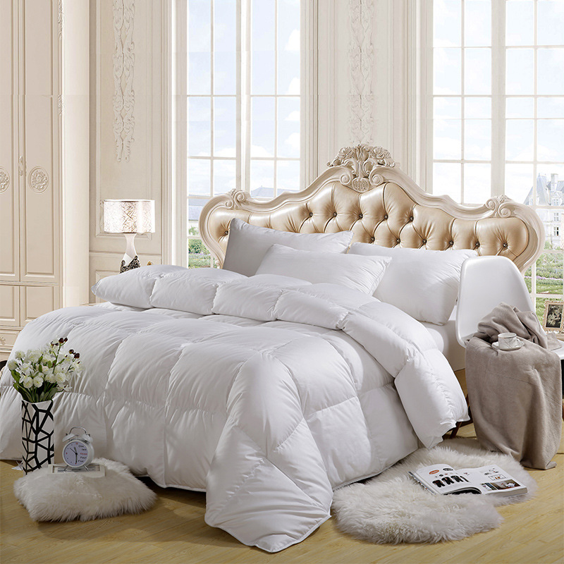 Luxury TOP Quality 95% White Goose Down Filler/Filling Queen Size Cotton Thickening And Warming Four Seasons Comforter down comforter cotton fill comforter comforter filling - title=