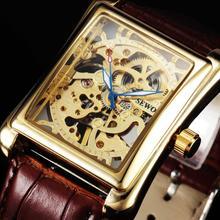 Sewor бренд благородный классический элегантный Скелет роскошные часы для мужчин кожа механические наручные Бизнес для мужчин s Спорт…