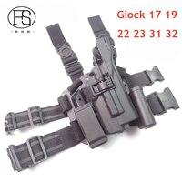 Blackhawk Military Tactical LV3 HOLSTER SET GLOCK 17 19 22 23 31 32 RH Gun Holster