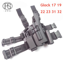 Blackhawk צבאי Tactical LV3 HOLSTER סט GLOCK 17 19 22 23 31 32 RH אקדח נרתיק