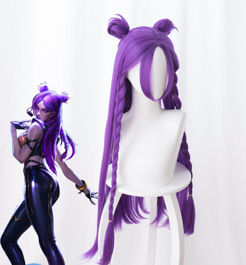 New Wig LOL KDA Kaisa Cosplay Wig Daughter of the Void Kaisa Wig Long Hair Purple Halloween Carnival Wigs