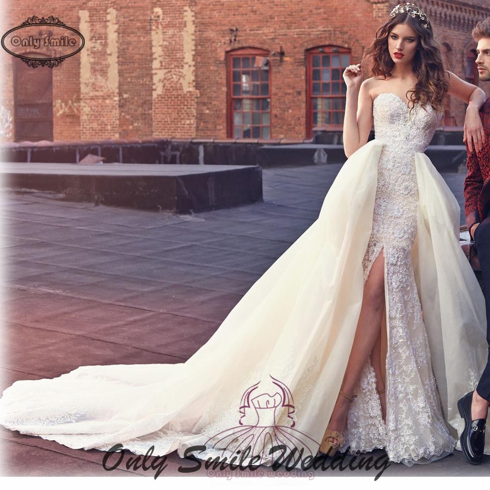 Open Front Wedding Dress