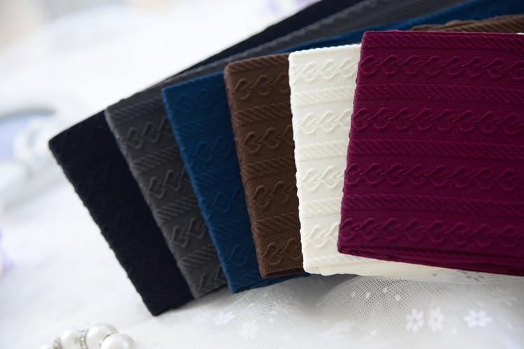 W743 2017 Trend Knitting new super slim hemp type grain pattern meat Silk stockings 140D tight pantynose for women 5 Colors