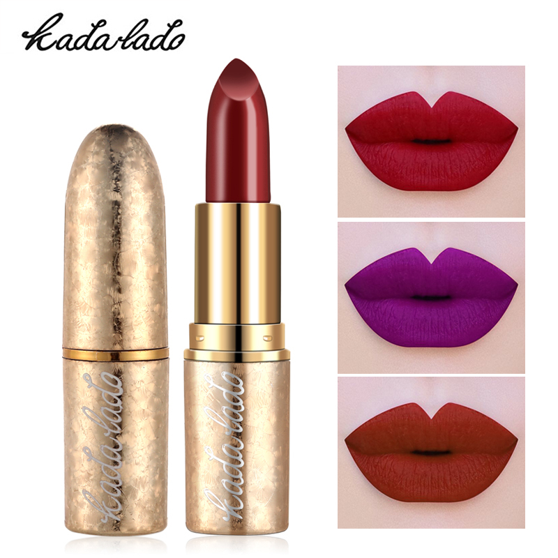 Best Selling 2018 Products High Quality Lipstick Women Make Up Waterproof Pigment Purple Red Gold Luxury Lipstick Makeup