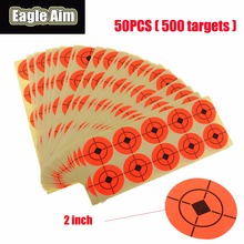2 Inchx 500pcs Shooting Target Paper Orange Florescent Self-Adhesive Targets Stickers for Airsoft BB Gun