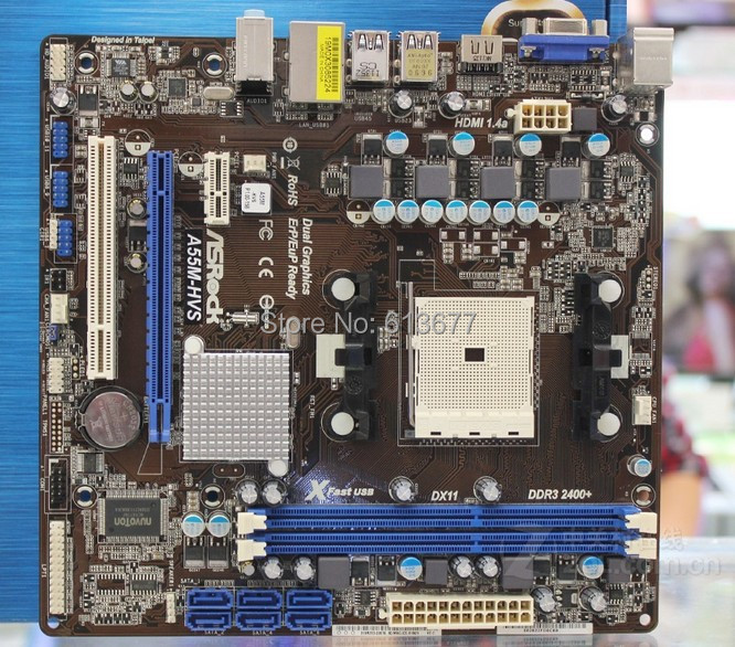 original motherboard for Asrock A55M HVS DDR3 Socket FM1 boards for