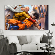One Punch Man VS Goku Anime Japanese Cartoon HD Canvas Painting Print Living Room Home Decor Modern Wall Art Oil Poster
