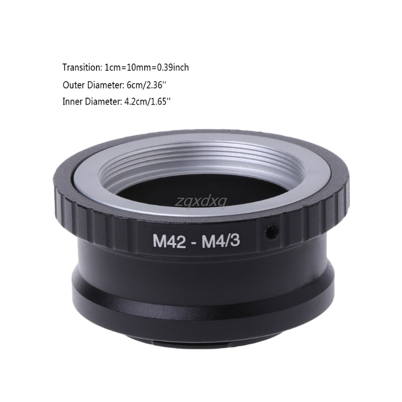 <font><b>M42</b></font> Lens to Micro 4/3 <font><b>M4/3</b></font> Adapter Ring For Panasonic G1 GH1 For Olympus E-P1 EP-2 Whosale&Dropship image
