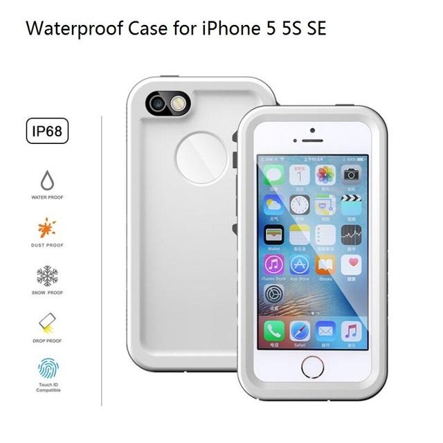 Case para iphone 5 5s ip68 telefone celular à prova d' água de natação mergulho subaquática à prova d' água capa protetora para o iphone se pc + tpu híbrido