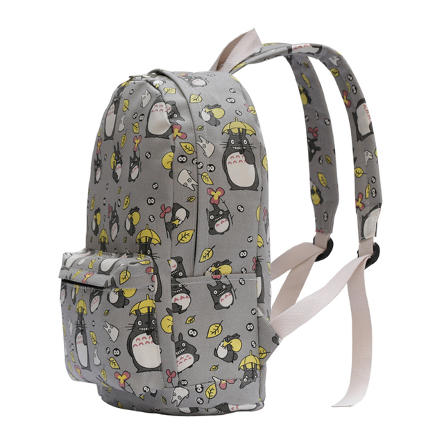 Totoro Printing Canvas Backpack