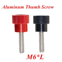 5pcs M6 Hand Screw Knurled Aluminum Thumb for Locking airflame aluminum alloy Head Stainless steel thumb screw