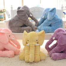 60 cm Elefante Brinquedos de Pelúcia Animal de Pelúcia Travesseiro Macio Para O Bebê & crianças Dormindo Brinquedos Para Childre Boneca Calma Bebê para Presentes de Natal