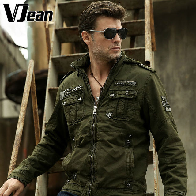 Aliexpress.com : Buy V JEAN Men's Sherpa Lined Military Bomber ...
